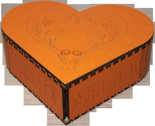 جعبه جواهرات چوبی شکل قلب