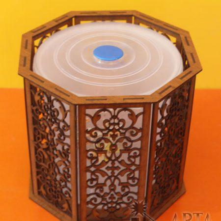 سطل آشغال چوبی مشبک