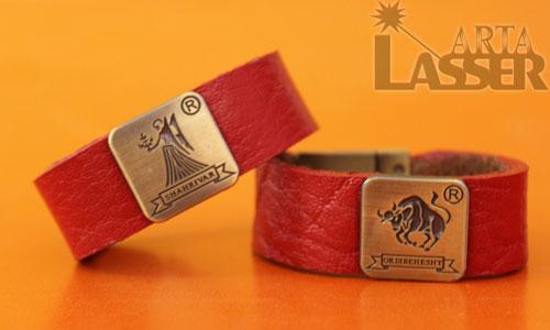 دستبند چرم زینتی