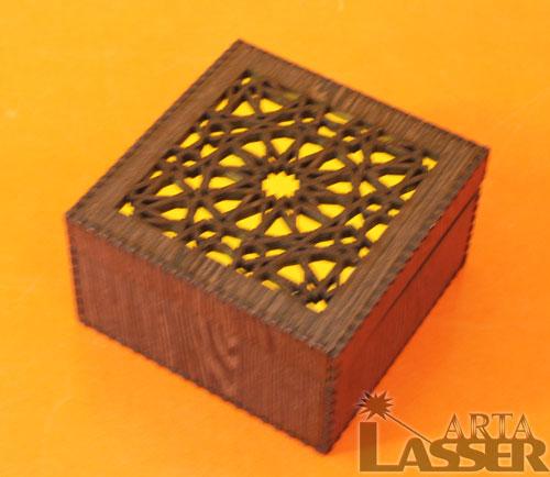 جعبه کادویی چوبی طرح تذهیب