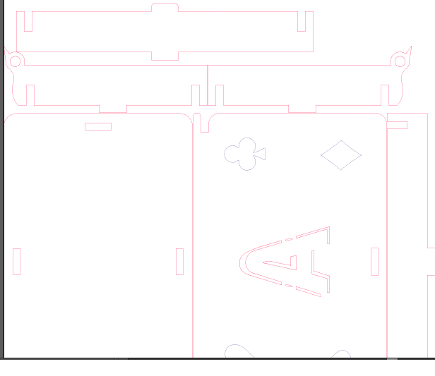 طرح برش لیزری جعبه پاسور