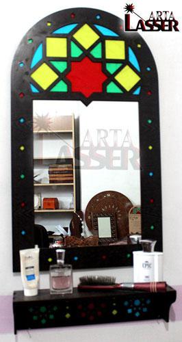 آینه و کنسول چوبی طرح سنتی