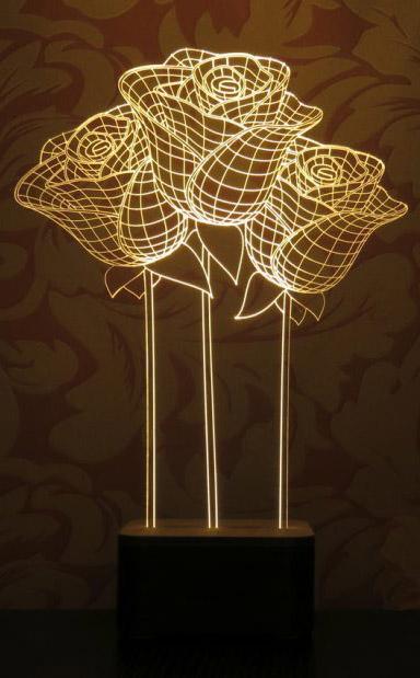 آباژور طرح ۳ شاخه لاله