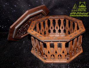 شکلات خوری چوبی هشت ضلعی
