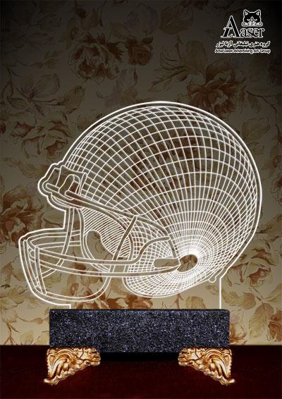 چراغ خواب طرح کلاه راگبی (فوتبال آمریکایی)