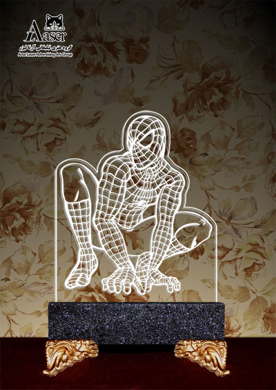 چراغ خواب طرح مرد عنکبوتی کد ۲