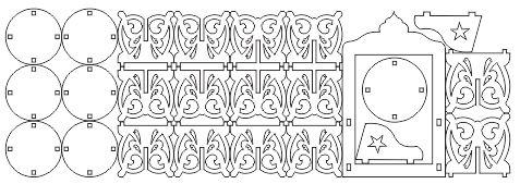 طرح آماده برش لیزری ۷سین طرح سنتی دلبر