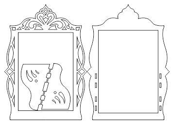طرح آماده برش لیزری آینه هفت سین