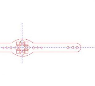 طرح برش لیزر دستبند چرمی ۲۰سانتی متر شماره ۴