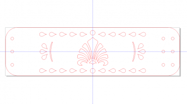 طرح دستبند چرمی ۵ سانتی متر