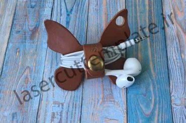 طرح نگهدارنده هندزفری مدل پروانه