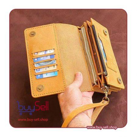 الگوی کیف پول و موبایل چرم