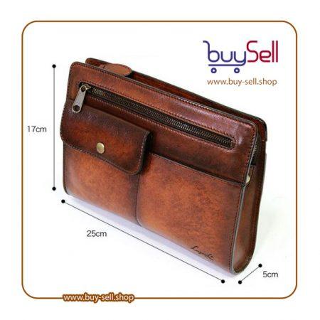 الگوی کیف چرم مردانه دست دوز