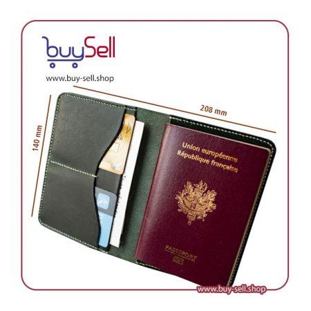 الگوی کیف پاسپورت چرم دست دوز