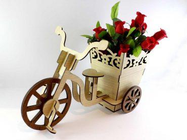 گلدان طرح دوچرخه